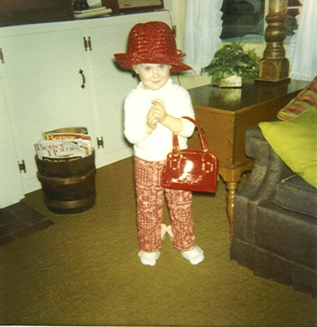 Me, circa 1970.  Ready to shop!