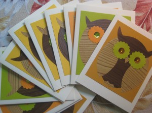 A flock of owl cards