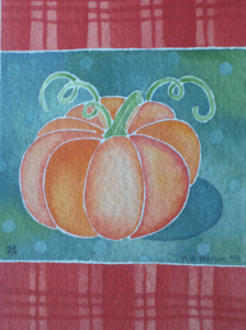 Pumpkin on Teal    KBH 1998